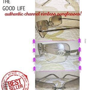 Authentic Chanel rimless sunglasses